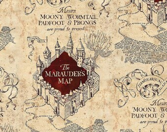 photograph regarding Printable Marauders Map named Marauders map Etsy