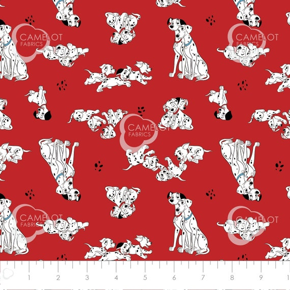 101 Dalmatians Puppy Faces White Camelot YARD Nursery Baby Disney Fabric