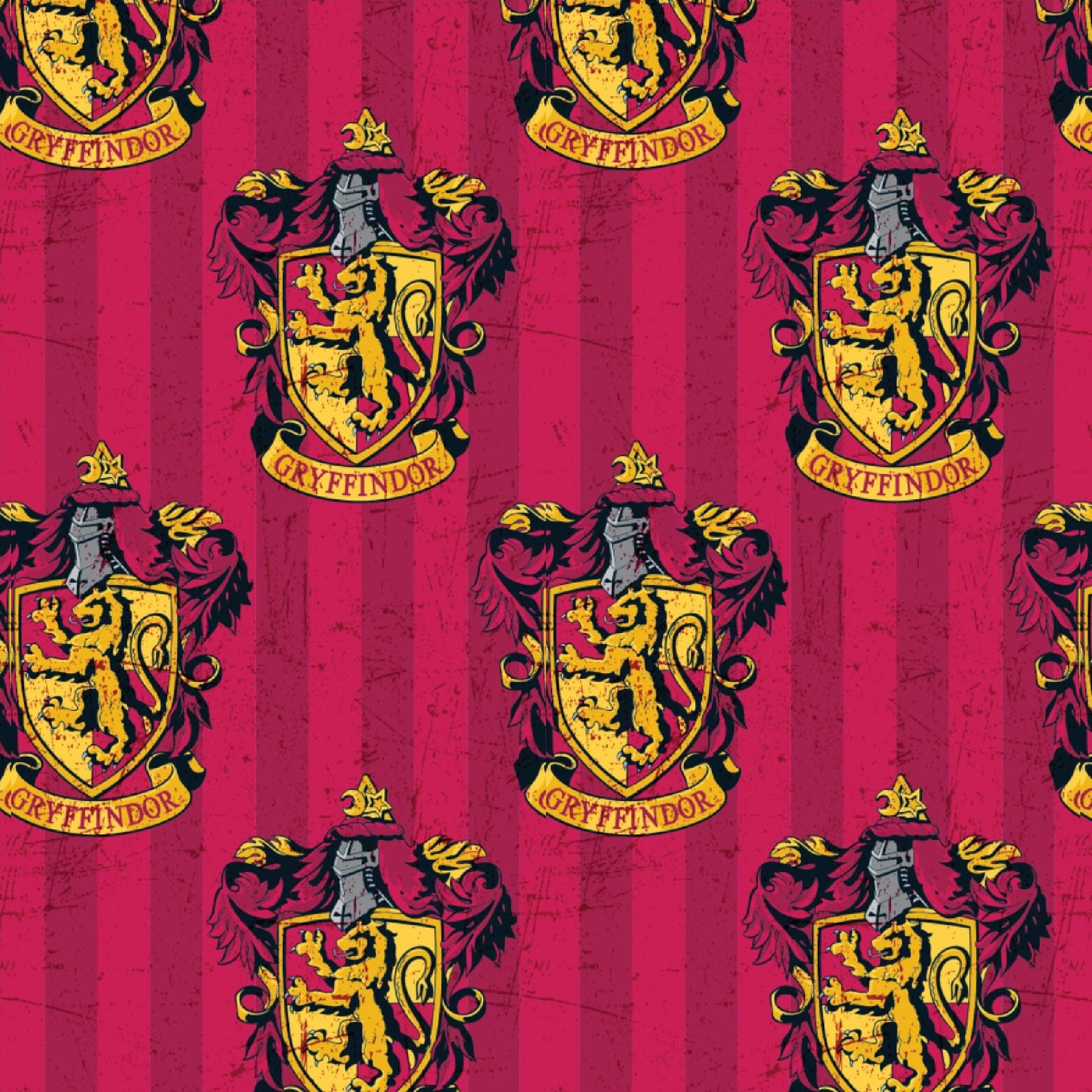 FAT QUARTER  HARRY POTTER FABRIC  GRYFFINDOR 100/% COTTON  CAMELOT  QUILTING  FQ
