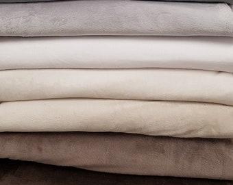 Plush fabric, Soft fabric, blanket fabric, Smooth Soft Fleece Solid Plain Fabric Meter/ Yard