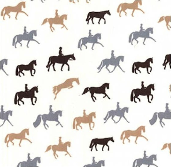 Horse fabric 100/% cotton material metres yards quilt equestrian print sew gift