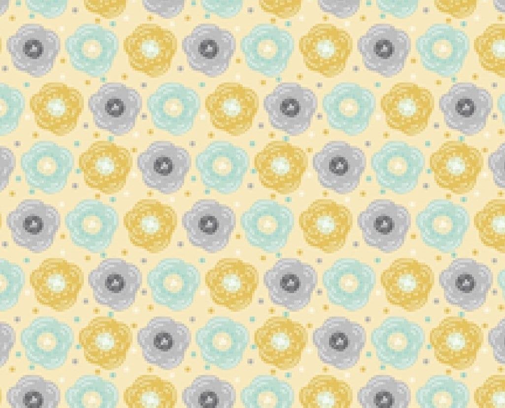 Modern Flower Fabric Floral Print Cotton 100 Cotton Print Craft