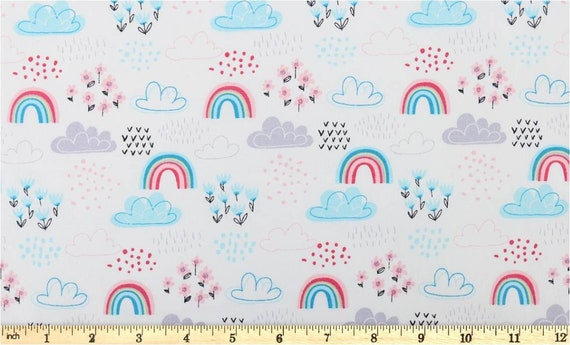 Fat Quarter Multicoloured Hearts Print 100/% Craft Cotton Quilting Fabric UK