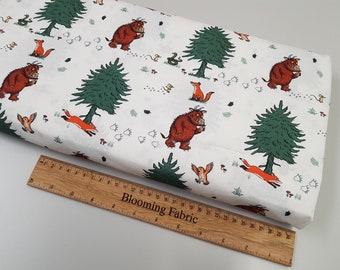 """Gruffalo Fabric, Animals fabric, 100% cotton craft and bunting, quilting fabric Meter/ Yard, wide 43"""""""