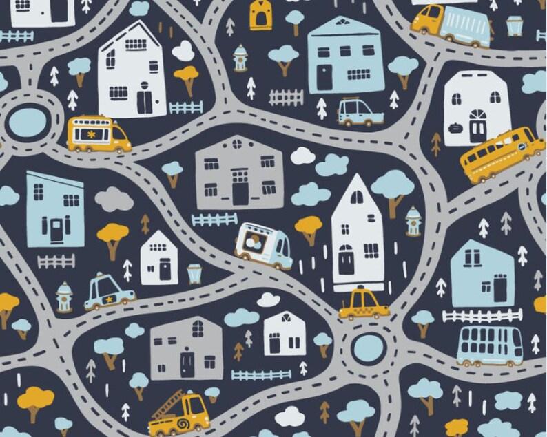 Road Map Cotton Jersey YardMeter Cotton Jersey Cotton knit fabric T shirt fabric