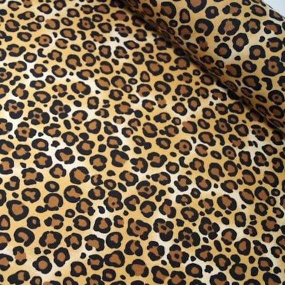 Diseñador 100/% Algodón Popelín Digital animales Leopardo Tigre De Tela 150 Cms De Ancho