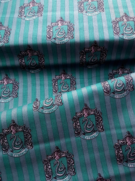 FS635 Harry Potter Designs Crests Slytherin Crafting Dress Cotton fabric