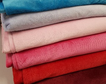 Soft fabric, Plush fabric, blanket fabric, Smooth Soft Fleece Solid Plain Fabric Meter/ Yard