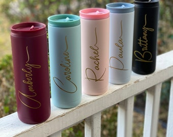Personalized tumbler, SPILL RESISTANT, Tumbler personalized, Personalized cups, Tumblers, Flower girl gift, Bridesmaid Gift, Teacher cups