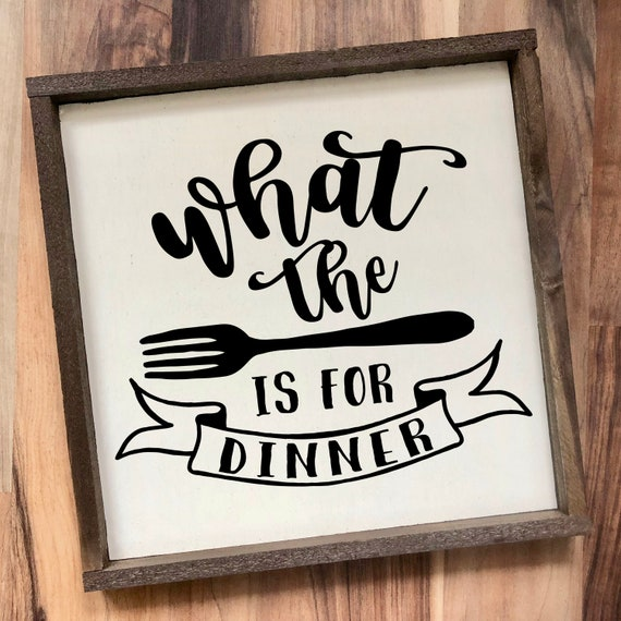WALL ART DECAL VINYL STICKER KITCHEN FUN WHAT THE FORK IS FOR DINNER