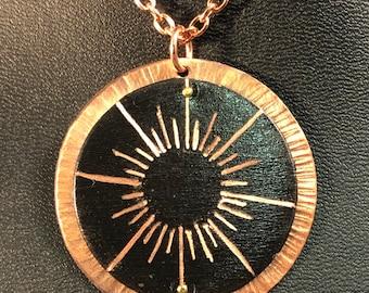 Copper Sunburst Pendant