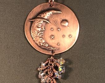 Mr. Moon Copper Pendant