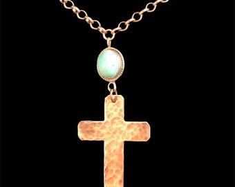 Copper & Turquoise Cross