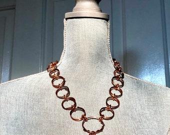 Unique Copper Link Necklace