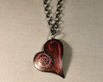 Puff Copper Heart Necklace
