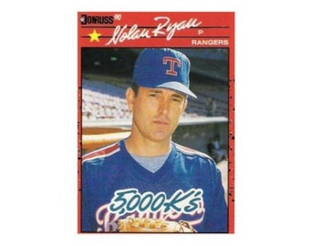Nolan Ryan Cards Etsy