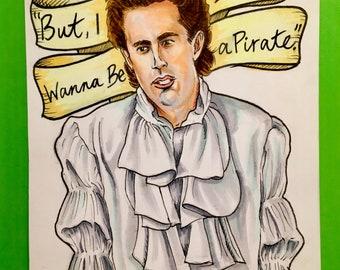 """Seinfeld Original Puffy Shirt Fan Art (5.5"""" x 4"""") FREE SHIPPING"""