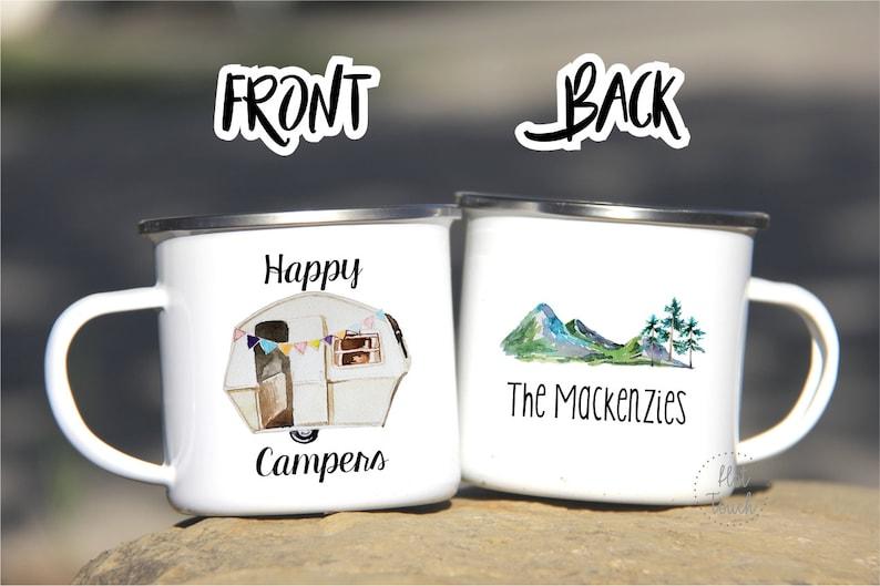 25c721c1df4 Happy Campers mugTrailer camping mugCustom campers | Etsy