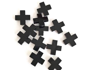 10x SMALL CROSS ACRYLIC - Quality Laser Cut Acrylic Cross 10mm