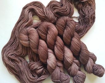 Deep in my Cups- Hand Dyed Tonal Yarn, Superwash Merino Nylon 2 Ply twist