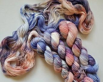 Strawberry Nerds - Hand Dyed Tonal Yarn, Superwash Merino Nylon 2 Ply twist