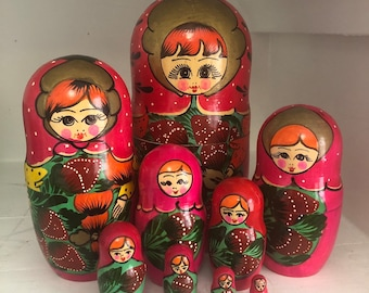 Jewelry & Watches Dolls Hot Sale Russian Doll Matryoshka Family Brooch Pin Charm Hand Painted Original Souvenir