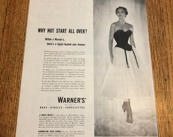 39040f24308 Vintage 1950s Warners Foundation Garments Corset Advertisement