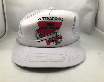 9b20f310d29ab Vintage Mesh Back Trucker Cap International Pipe Machinery Corp