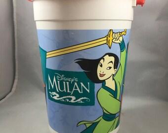 Vintage 1990s Disney Parks Mulan Orville Redenbacher's Souvenir Popcorn Bucket