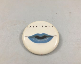 Vintage 1980s Talk Talk New Wave Pin