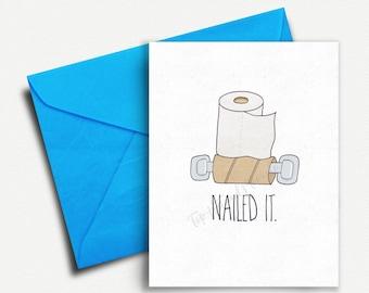 Funny Anniversary Card, Birthday Card Boyfriend, Card for Boyfriend, Card for Him, Husband, Best Friend, Roommate, Girlfriend, Love Card