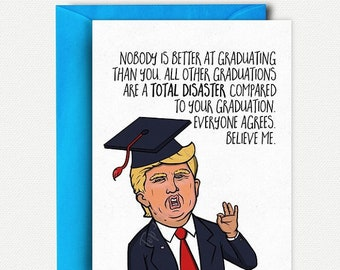 Funny Graduation Card Funny College Graduation Gift for Him Funny Grad Card High School Graduation Card Funny Congratulations Card Grad Gift