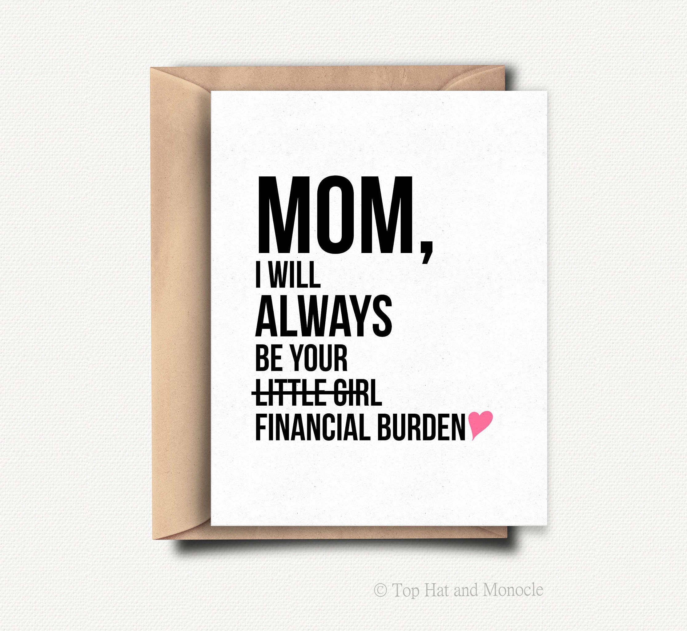 Happy Mothers Day Card Funny Mother Gift From