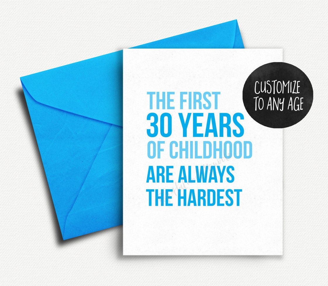 Funny 30th Birthday Card 40th For Her Best Friend Him Adulting Boyfriend 50th 25th 21st 20 60th