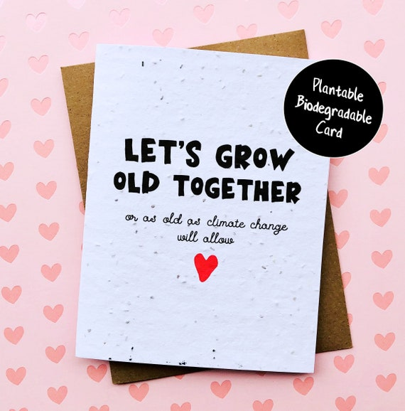 Plantable Funny Anniversary Card Love Card for Him Boyfriend Birthday Card Girlfriend Eco Friendly Gift Funny Valentine Card for Husband