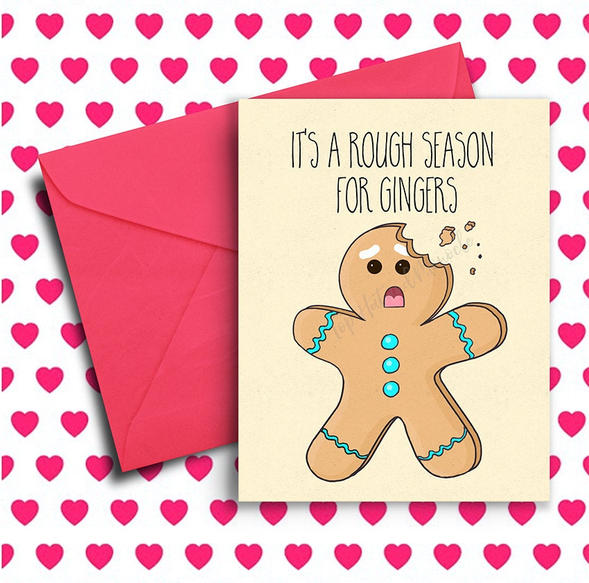 Christmas Bday Cards.Funny Christmas Card Funny Holiday Card Ginger Card Birthday Card Best Friend Funny Birthday Card Boyfriend Girlfriend Xmas Christmas Gift