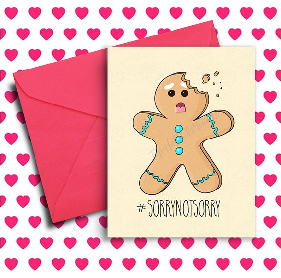 Christmas Gift For Boyfriends Mom.Funny Holiday Card For Her Christmas Gift Ideas For Him Gingerbread Funny Christmas Card Coworker Boyfriend Mom Sorrynotsorry