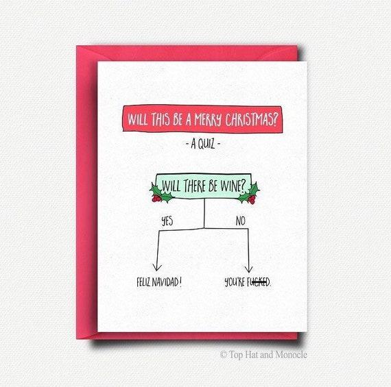 Funny Christmas Card Handmade Christmas Card Boyfriend Funny Etsy