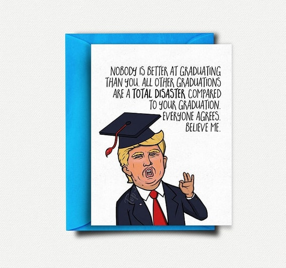Funny Graduation Card Funny College Graduation Gift For Him Etsy