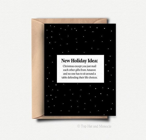 Sarcastic Holiday Card Funny Christmas Gift Ideas For Him