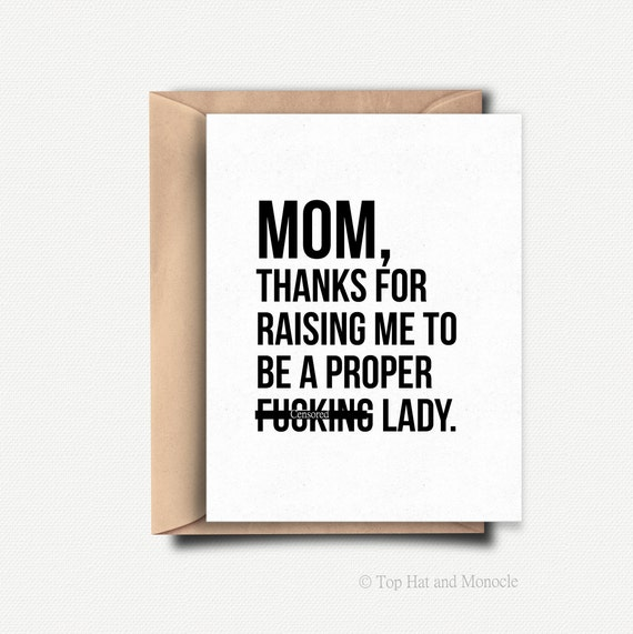 Funny Mothers Day Card Funny Mothers Day Gift From Daughter Etsy