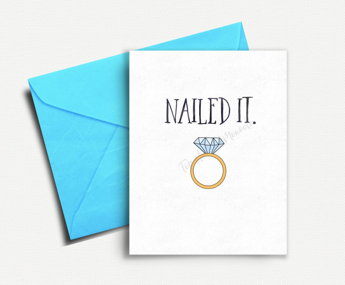 funny engagement card bridal shower card engagement announcement wedding shower card funny wedding card engagement congratulations