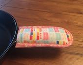 Cast Iron Skillet Mitt - Pan Potholder Handle - PYREX - New Handmade Kitchen Linens - Vintage Pyrex Fabric