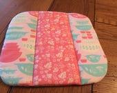 Pyrex Hot Pad NEW Handmade Vintage Print matches Pyrex Gooseberry dishware - Pink Pyrex Fabric