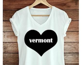 Vermont heart shirt