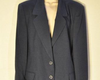 Womens Vintage Navy Suit