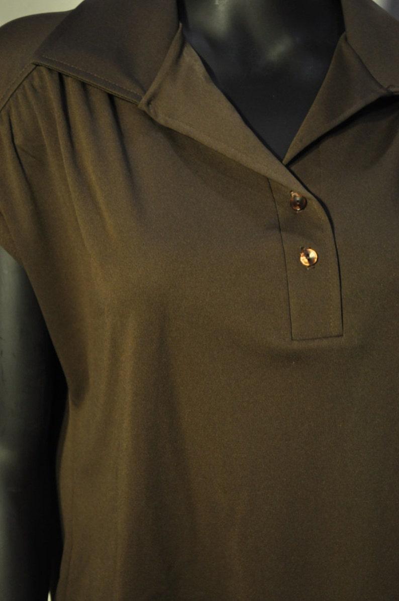 Women/'s Vintage Brown Blouse