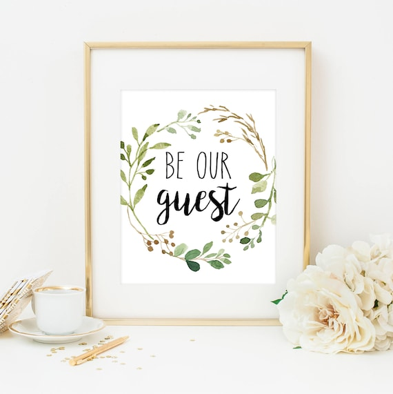 graphic relating to Be Our Guest Printable identified as Be Our Visitor Print Be Our Visitor Indication Farmhouse Print Visitor Area Decor Visitor Place Printable Visitor Wall Artwork Farmhouse Artwork Greenery Visitor Place