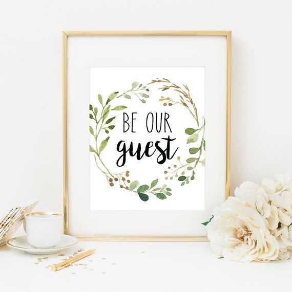graphic about Be Our Guest Printable known as Be Our Visitor Print Be Our Visitor Indicator Farmhouse Print Visitor Area Decor Visitor Area Printable Visitor Wall Artwork Farmhouse Artwork Greenery Visitor Area