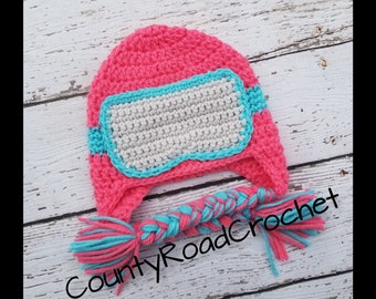 Baby Ski Hat Snowboard Hat Hat With Ski Goggles Girl Winter Hat Newborn Girl  Photo Prop Girl Baby Gifts Toddler Crochet Hat Skiing Hat f66041f8db0e